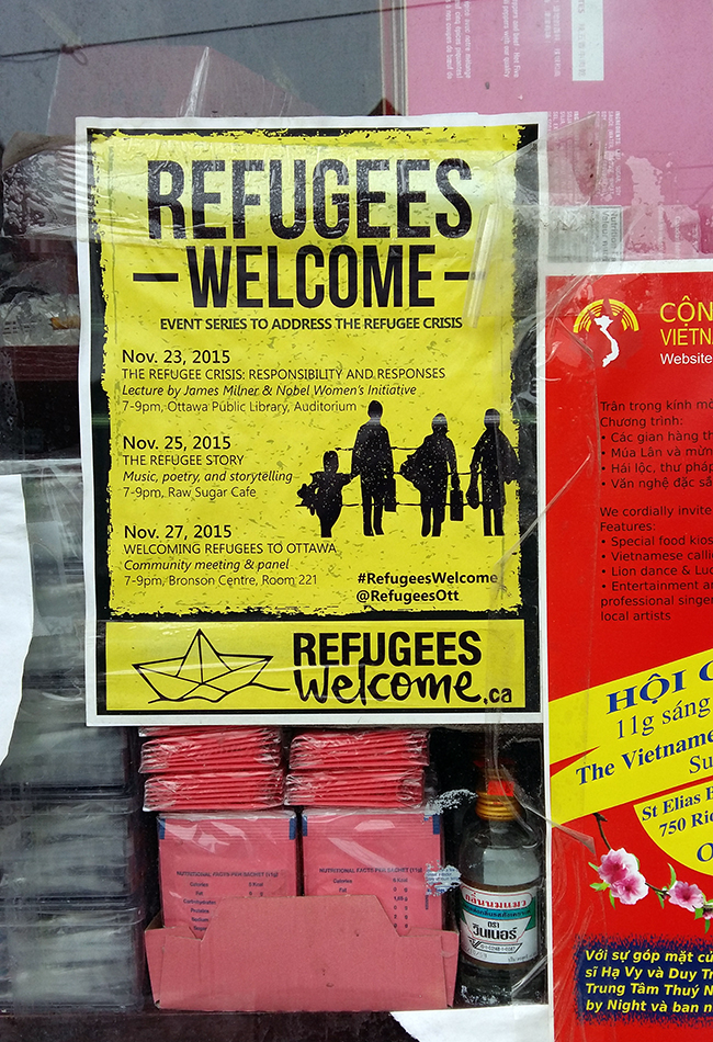 Refugees welcome. Chinatown is also the places where many cultures meet.