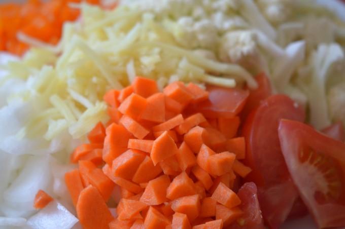 Veggies, prepped