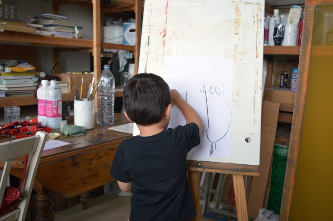 "Mark drawing ""mommy and daddy"""