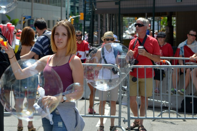 Faces in the crowd, celebrating Canada Day 2016
