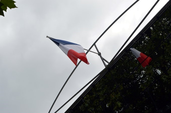 French flag reflection