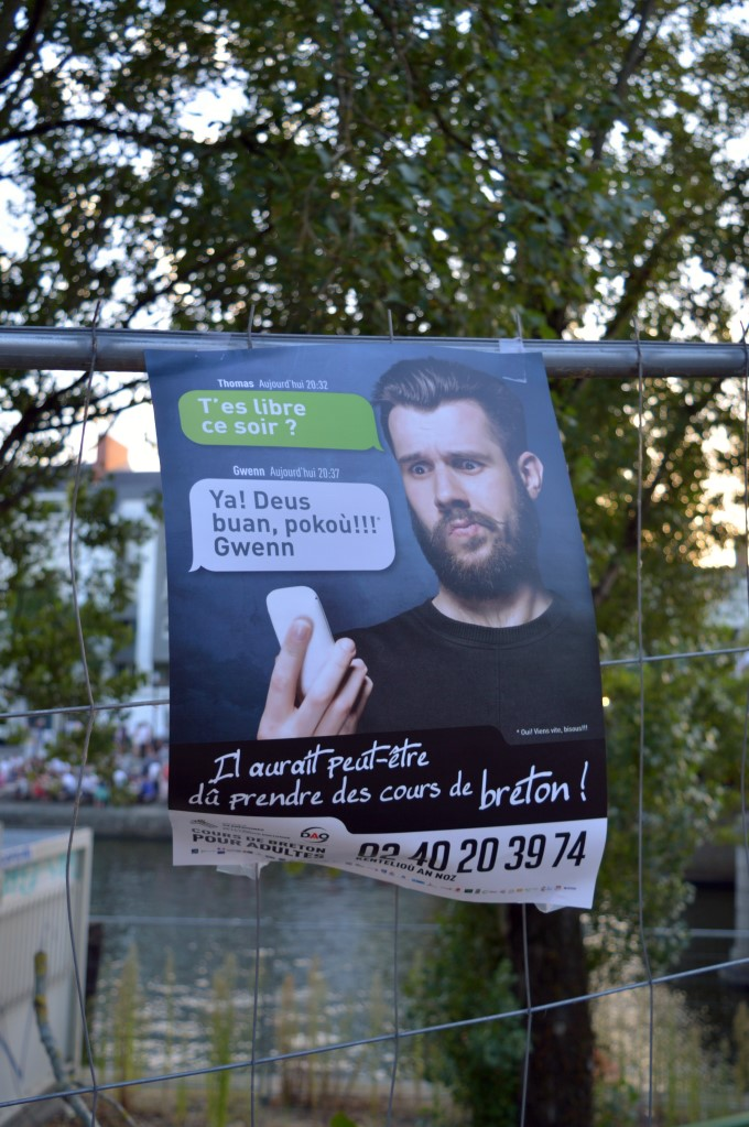 Poster for Breton language classes