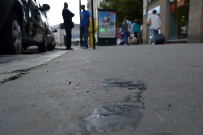 Wet footprint