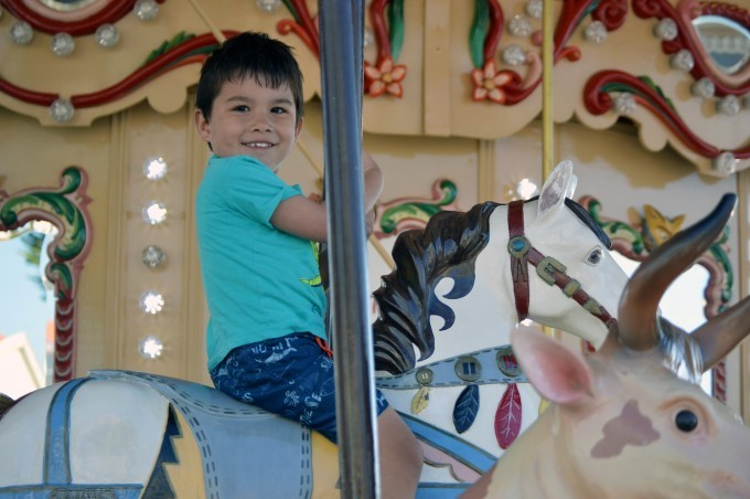 Mark on an old steam-powered carousel in Tharon