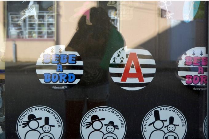 Breton souvenir stickers
