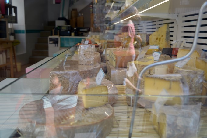 Traditional (and pricey) cheese shop