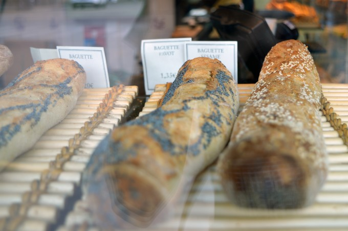 Baguettes at the bakery