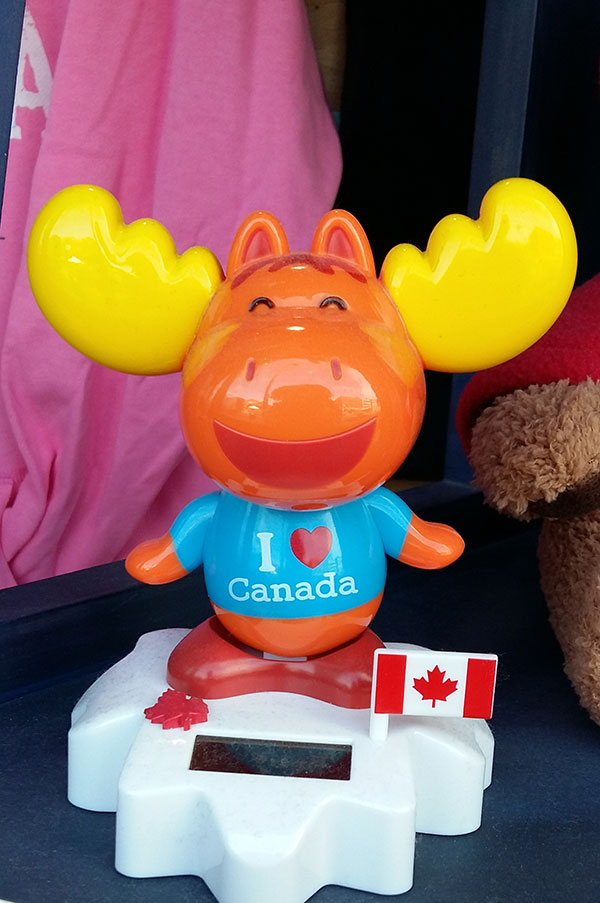 Close-up of a Canadian souvenir at the Byward Market, Ottawa, October 2016
