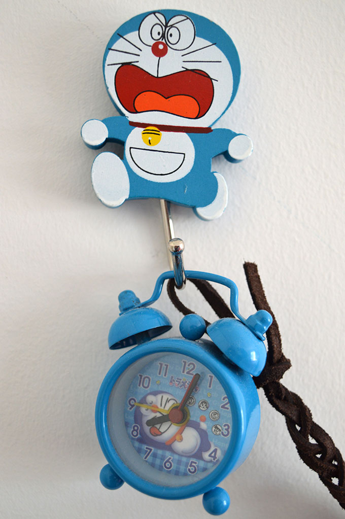 Alarm clock and hook