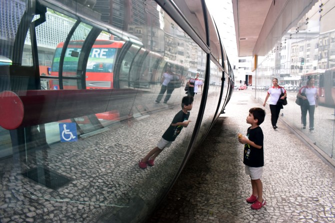 Centro, Curitiba futuristic bus stops
