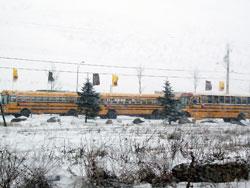 School Buses Are Stuck