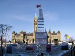Ice Replica Of The Parliament