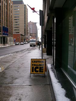 Falling Ice!