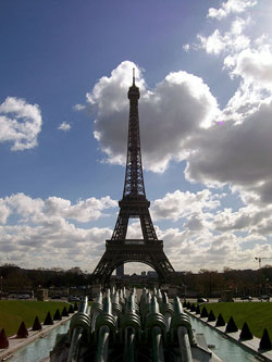 Eiffel Tower and Clouds