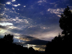 Shades of blue sunset
