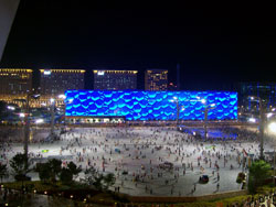 The Watercube At Night