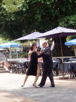 Dancing Tango In San Telmo