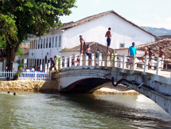 Kids Diving From The Bridge