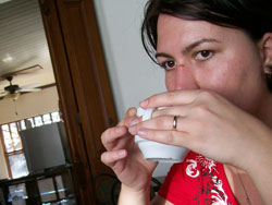 Drinking Coffee, Liberia, Costa Rica