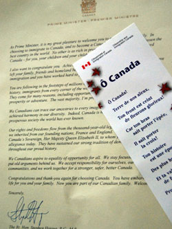 O Canada And The Letter From M. Harper