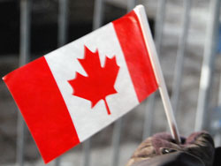 Gloves and Canadian Flag