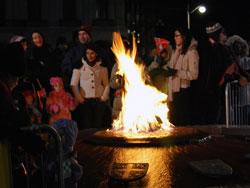 Warming Up Around The Centennial Flame