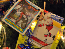 Hockey Cards In Xmas Trees