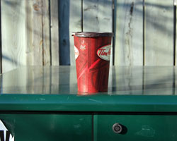 Timmies Cup Left Behind