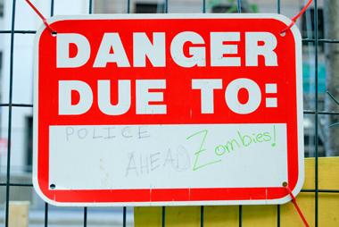 Danger Due To Zombies, Toronto, 2011