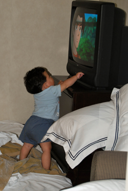 Turning the TV off
