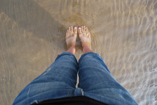 Feet in Water
