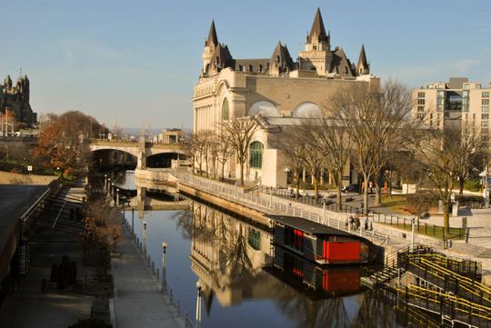 The Canal from Mackenzie King Bridge, Ottawa, November 2013