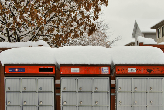 Snowy Mailboxes