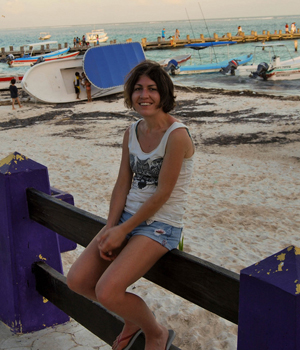 Relaxed in Porto Morelos, Mexico, January 2014