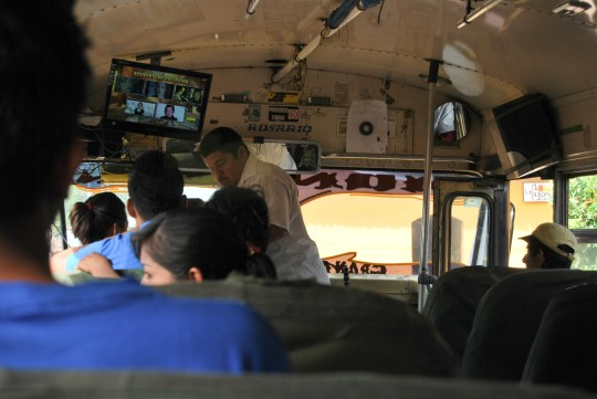 Yes, Chicken Buses Come With... A Flat Screen TV!