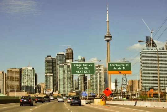 Driving into Toronto