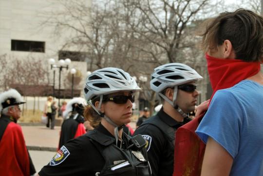 Police Between Protestants