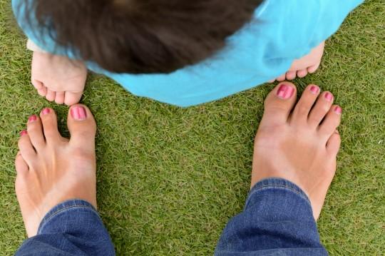 Mark's Feet and Mine