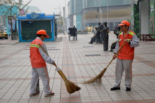 Sweepers in Wang Fu Jing