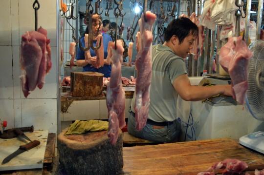 Butcher in Wuhan