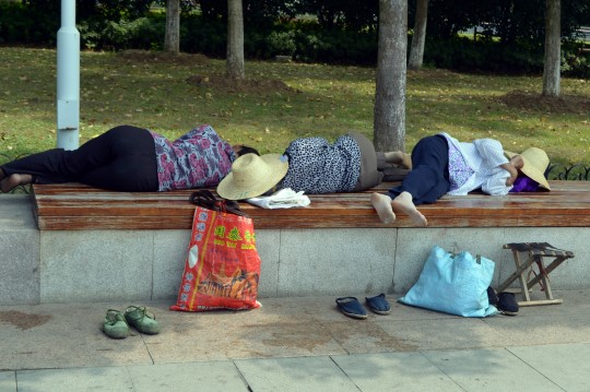 Napping in Wuhan