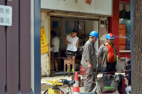 Construction Workers in Wuhan