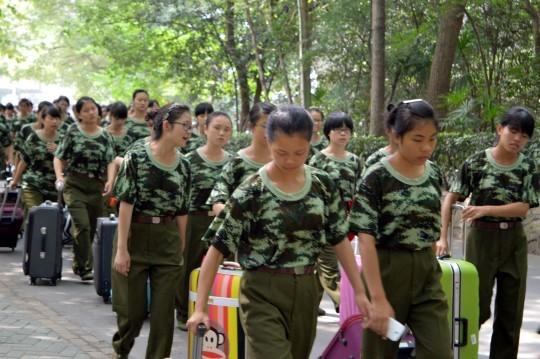 Freshmen at Wuhan University