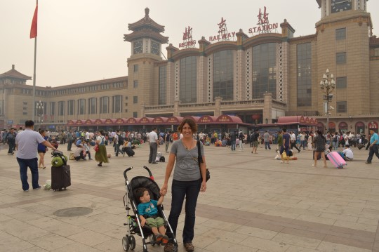 Beijing Central Station Where We Bought the Tickets