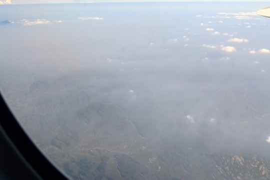 Above Beijing (Can You Spot the Great Wall?)