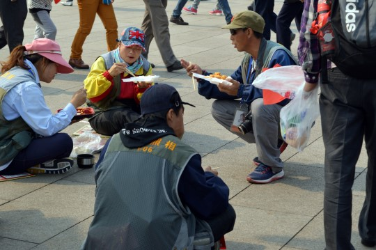 Snacking on Tiananmen