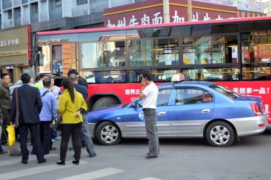 Taxi vs. Bus