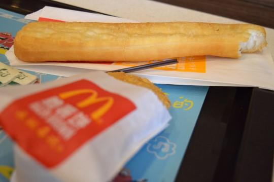 Youjiao (fried dough) at McDonald's