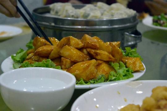 Potatoes Coated in Sugar