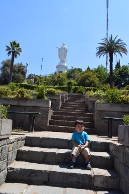 Statue of the Virgin Mary on San Cristóbal Hill,